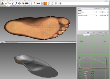 2. Design the custom insole